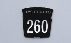 Motif badge - Powered by Ford 260 (Tiger)