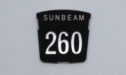 Motif badge - Sunbeam 260 (Tiger)