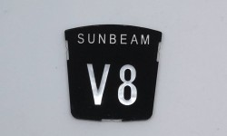 Motif badge - Sunbeam V8 (Tiger)