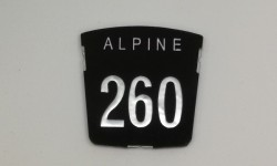 Motif badge - Alpine 260 (Tiger)