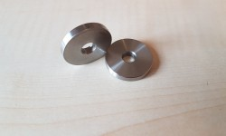Rear shock absorber, lower mount washers (pair)