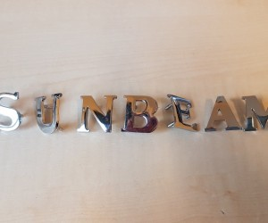 S U N B E A M badge letter set