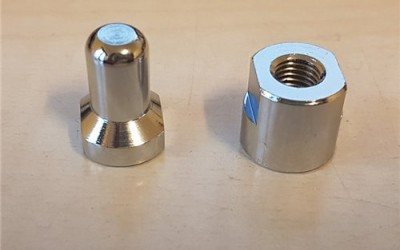 Convertible soft-top rod spigot & lock-nut
