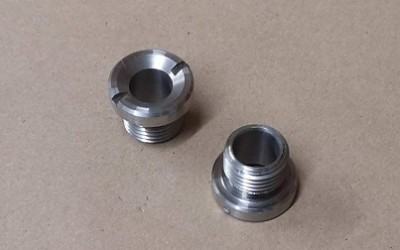 Convertible soft-top rod spigot sockets (2)