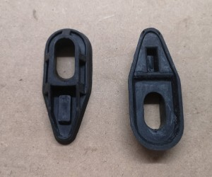 Rear brake drum lever dust covers (late)