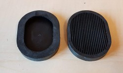 Rubber Pedal Pads - Late (pair)
