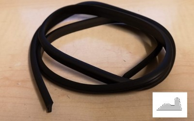 Bumper over-rider rubber piping (car set)