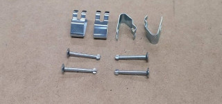 Rear brake shoe pins and clips