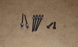 VIN and Info plate rivets and screws (set of 8)